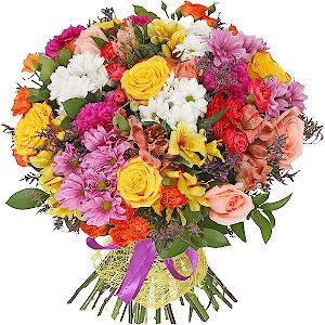 Доставка цветов в мирном деловой подарок женщине